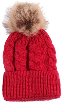 59% OFF on Tahiro Red Woollen Winter Cap Cap on Flipkart ... 7e9d02008