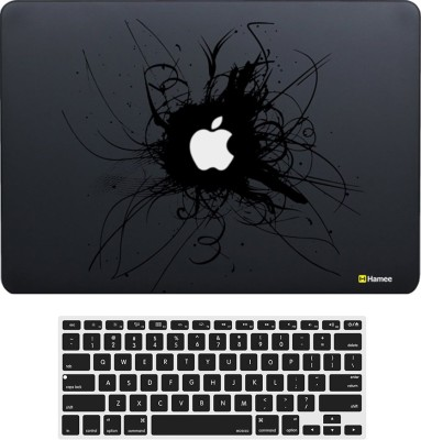 Hamee MacBook Air 13 inch cover with Keyboard Skin Combo 241 Rubber Laptop Decal 13 at flipkart
