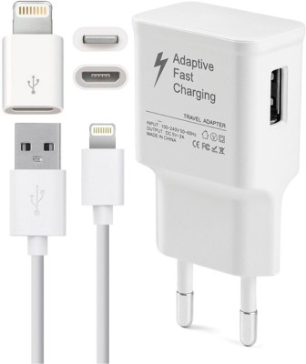 FineArts Wall Charger Accessory Combo for apple iPhone Multicolor
