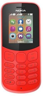 Nokia 130 (Nokia TA-1017) - 2017 Dual SIM Red Mobile