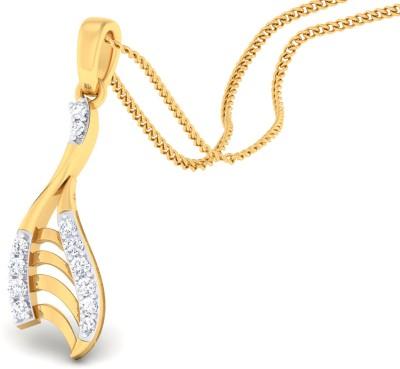 GO4CARAT 14K Yellow Gold Diamond Yellow Gold Pendant