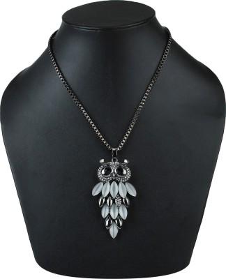 Dhrohar Bronze Alloy Blue Eyes Vintage Owl Brass Alloy Pendant