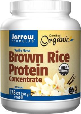 Jarrow Formulas Brown Rice Protein Concentrate 17.8 oz (504 gm) Vanilla Flavor Protein Cereal(504 g, Vanilla)