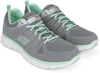 Skechers Sneakers For Women(Grey) at flipkart