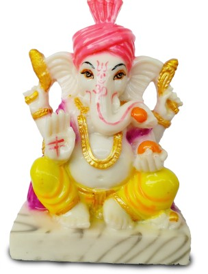 EthnicAlive Idol Ganesh Jee In Wooden packiging Religious Gift Vastu Showpiece Gift Items Car Dashboard Showpiece  -  17 cm(Marble, Multicolor)  available at flipkart for Rs.444