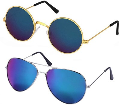 Elligator Aviator Sunglasses(Multicolor)