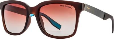 Park Avenue Wayfarer, Retro Square, Rectangular Sunglasses(Brown)  available at flipkart for Rs.2943