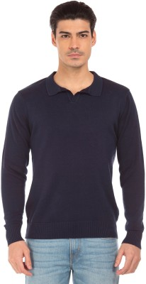 Flying Machine Striped Round Neck Casual Men Purple Sweater at flipkart