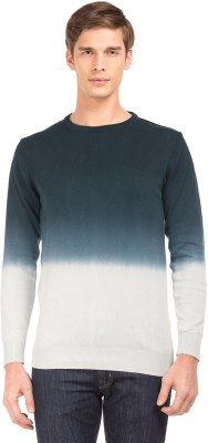 Flying Machine Striped Crew Neck Casual Men Blue Sweater at flipkart