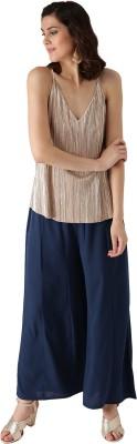 Libas Regular Fit Women Blue Trousers
