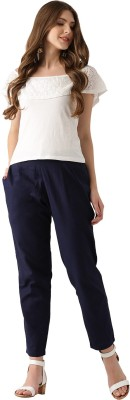 Libas Regular Fit Women's Blue Trousers