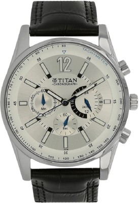 a35bb27d52c 20% OFF on Titan Classique Silver Dial Chronograph Watch - For Men on  Flipkart