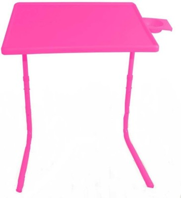 EasyHome Pink Color Portable Multipurpose Table With Cup Holder Pink Changing Table