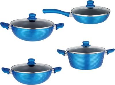 NIRLON Forged Cookware Induction Bottom Cookware Set(Aluminium, PTFE (Non-stick), 4 - Piece)