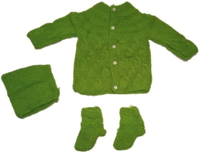 463589185fe 50% OFF on Cutiepie Collections Baby Boys   Baby Girls Casual Sweater Dress( Green) on Flipkart