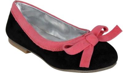 STYLE HER Girls Velcro Flats(Black)