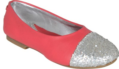 STYLE HER Girls Velcro Flats(Silver)