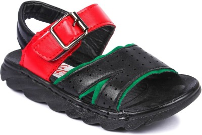 N Five Boys Velcro Strappy Sandals(Black) at flipkart