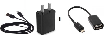 CASVO Wall Charger Accessory Combo for Spice Nexian(Black)