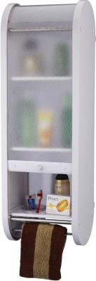 Wintex Recta Mirror Cabinet Plastic Wall Shelf(Number of Shelves - 5, Beige)