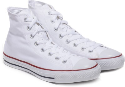 STAR High Ankle Sneakers For Men(White