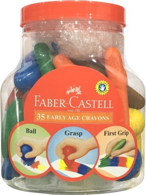 Faber-Castell 35 Early Age Cryaons Gift Pack for 3 to 8 year Old Childrens (Pack of 2)