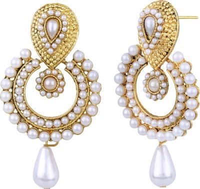 STYYLO FASHION diva style Pearl Alloy Chandbali Earring STYYLO FASHION Earrings