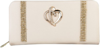 Louise Belgium Casual White  Clutch at flipkart
