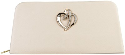 Louise Belgium Women Casual White  Clutch at flipkart