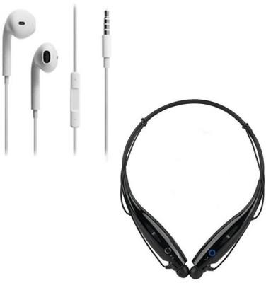 PREMIUM E COMMERCE Headphone Case Accessory Combo for Combo HBS 730 In-Ear Sport Neckband Bluetooth & Wired Headphone Wireless Bluetooth Headphone(Black & White)