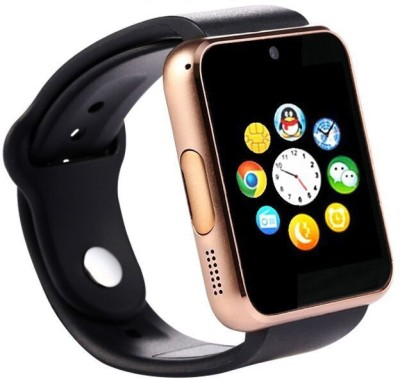 SYL Presenting Bluetooth Smartwatch with Sim- Card Support Compatible with Iphon.e Gold Smartwatch(Brown Strap Free Size)