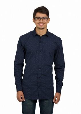 Leebazone Men's Printed Casual Spread Shirt