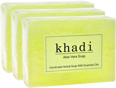 Khadi Herbal Aloe Vera [ PACK OF 3](375 g, Pack of 3)  available at flipkart for Rs.220