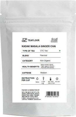 Tea Floor Kadak Ginger Masala Tea(100 g, Vacuum Pack)