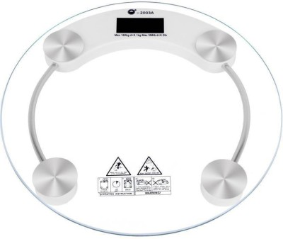 jivo DIGITAL GLASS BATHROOM HEALTH PERSONAL 6mm Weighing Scale (White) Weighing Scale(White)  available at flipkart for Rs.570