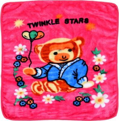 LeMaDrid Cartoon Crib Swadding Baby Blanket Pink(Mink Blanket, 1 Piece Baby Blanket)  available at flipkart for Rs.249