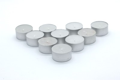 AuraDecor Fully Refine Paraffin Wax Smokeless, 30 Tea Light Candles Candle(White, Pack of 3)