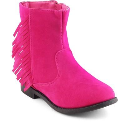 KITTENS Girls Slip on Casual Boots(Pink) at flipkart