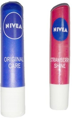 Nivea STRAWBERRY + ORIGINAL CARE LIP BALM(4.8 g)