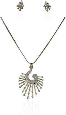 pavvoin Fashion jewellery Zircon Metal, Alloy, Stone Pendant Set