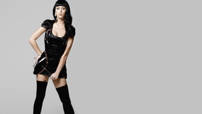 katy-perry-brunettes-women-music-stockings-models-celebrity-black-dress Wall Poster Paper Print(12 inch X 18 inch, Rolled)  available at flipkart for Rs.208