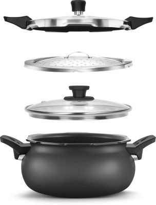 Pigeon All In One Super Cooker 5 L Pressure Cooker with Induction Bottom(Aluminium)