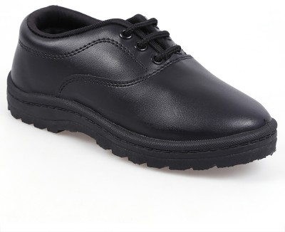 Goldstar Boys & Girls Lace Walking Shoes(Black)  available at flipkart for Rs.190