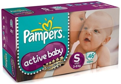 Pampers Active Baby Diapers, S 46 Pieces