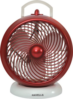 HAVELLS i-Cool 3 Blade Table Fan(White maroon, Pack of 1)