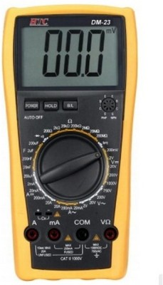 HTC DM-23 alongwith Calibration Certificate Digital Multimeter(Yellow 2000 Counts)