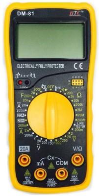 HTC DM-81 AC Voltage 0 to 750V Range Digital Multimeter(Yellow 4000 Counts)