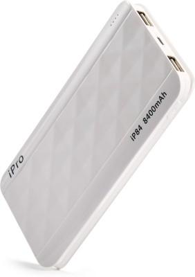 Ipro 8400 mAh Power Bank (IP84-White, Lithium Polymer For Smartphones)(White, Lithium Polymer)