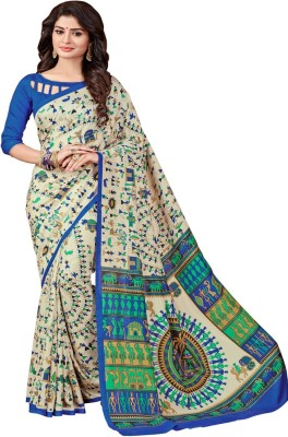 Bombey Velvat Fab Floral Print, Checkered, Printed, Plain, Animal Print, Embellished, Geometric Print, Graphic Print, Applique, Self Design, Solid Paithani Printed Silk, Art Silk Saree(Multicolor)  available at flipkart for Rs.449