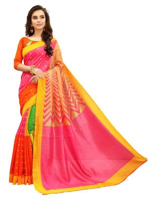Fabland Printed Daily Wear Cotton Silk Saree